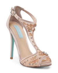 Tj Maxx Multicolor Holly Jeweled Ankle Strap Heels