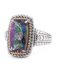 Tj Maxx | Metallic Made In Thailand 14k Gold And Sterling Silver Fancy Mystic Quartz Ring | Lyst