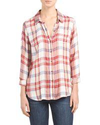 Tj Maxx - Red Bungalow Plaid Shirt - Lyst