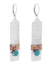Tj Maxx | Metallic Handcrafted In Mexico Sterling Silver Copper Wrap Earrings | Lyst