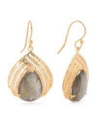 Tj Maxx - Metallic Made In India Sterling Silver Stone Teardrop Earrings - Lyst
