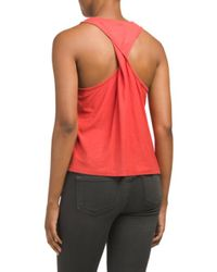 Tj Maxx - Red Made In Usa Raven Twisted Back Tank - Lyst