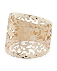 Tj Maxx - Metallic Made In Italy 14k Gold Cutout Ring - Lyst