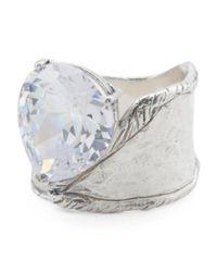 Tj Maxx - Metallic Made In Israel Sterling Silver Cubic Zirconia Ring - Lyst