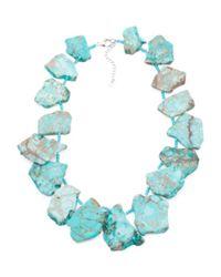 Tj Maxx - Sterling Silver Blue Jasper Slab Necklace - Lyst