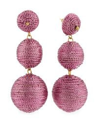 Tj Maxx - Pink Made In India Lurex Thread Wrapped Linear Earrings - Lyst