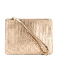 Tj Maxx Metallic Made In Italy Leather Snakeskin Pouch