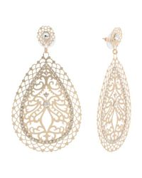 Tj Maxx - Metallic Scroll Teardrop Earrings With Crystal Embellishment - Lyst