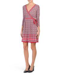Tj Maxx - Red Printed Jersey Wrap Dress - Lyst