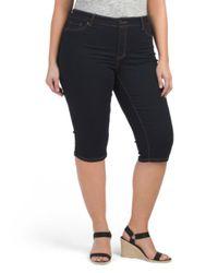Tj Maxx - Black Plus Back Flap Pocket Capris - Lyst