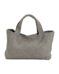 Tj Maxx Natural Made In Italy Woven Leather Satchel