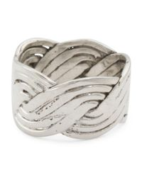 Tj Maxx - Metallic Made In Mexico Sterling Silver Braided Ring - Lyst
