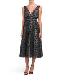 Tj Maxx - Black Multi-layer Dotted Tulle Dress - Lyst