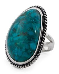 Tj Maxx - Blue Made In Thailand Turquoise Rope Halo Ring - Lyst