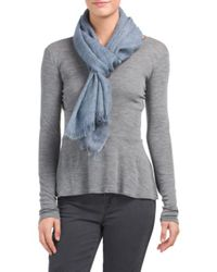 Tj Maxx - Blue Made In Italy Chambray Wool Scarf - Lyst