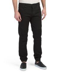 Tj Maxx Black Moto Jogger Jeans for men