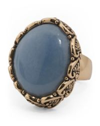 Tj Maxx - Made In Thailand Bronze And Blue Chalcedony Ring - Lyst