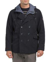 Tj Maxx - Blue Cotton Canvas Pea Coat With Bib for Men - Lyst