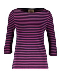 TK Maxx brand Purple & Navy Three Quarter Sleeve Top