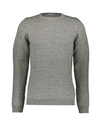 TK Maxx brand Gray Herringbone Wool Crew Neck Jumper for men