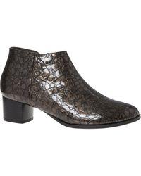 TK Maxx brand Black Textured Shine Leather Boots