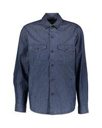 TK Maxx brand Blue Denim Shacket for men