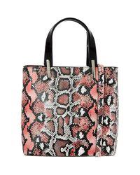 TK Maxx brand Pink Reptile Effect Tote Bag