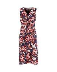 TK Maxx brand Red Multi Floral Midi Dress