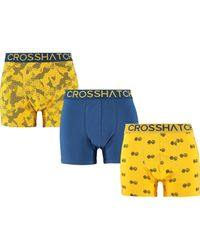 TK Maxx brand Blue Three Pack Yellow & Boxer Shorts for men