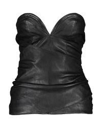TK Maxx brand Black Leather Heart Corset