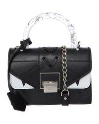 TK Maxx brand Black Clear Handle Crossbody Bag