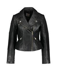 TK Maxx brand Black Leather Biker Jacket
