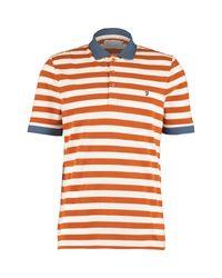 TK Maxx brand Orange Burnt Striped Polo Shirt for men