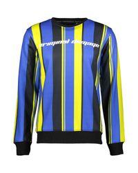 TK Maxx brand Blue & Yellow Striped Jumper for men