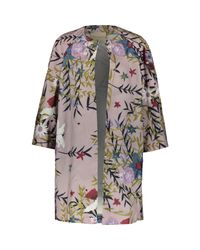 TK Maxx brand Purple Floral Kimono Coat