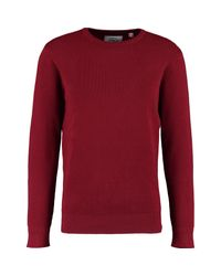 TK Maxx brand Red Basket Weave Knit Jumper for men