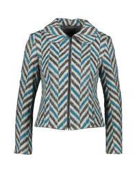 TK Maxx brand Blue Ed Chevron Zip Jacket
