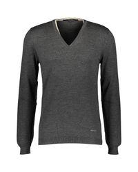 TK Maxx brand Gray Wool Blend V Neck Jumper for men