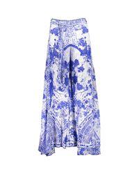 TK Maxx brand Blue & White Silk Fan Sea Trousers