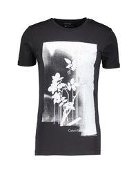TK Maxx brand Black & Grey Floral Printed T Shirt for men
