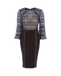 TK Maxx brand Blue Crochet Midi Dress