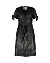 TK Maxx brand Black Belted Midi Dress