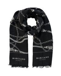 TK Maxx brand Black Chain Print Scarf