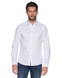 Calvin Klein Casual Overhemd Met Lange Mouwen in het White voor heren