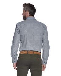 Campbell Casual Overhemd Met Lange Mouwen in het Gray voor heren