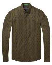 Scotch & Soda Classic Oxford Shirt in het Green voor heren