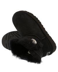 Ugg Enkellaarsjes Mini Bailey Button 1016554 in het Black
