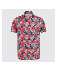 BLUE INDUSTRY 1141.91 Shirt Korte Mouw in het Red voor heren