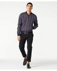 Todd Snyder - Blue Barre Stripe Bomber In Navy for Men - Lyst