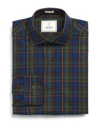 Todd Snyder - Carey Dress Shirt In Dark Green Plaid for Men - Lyst